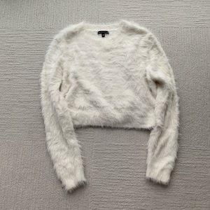 Cropped Kendal and Kylie Fuzzy Sweater